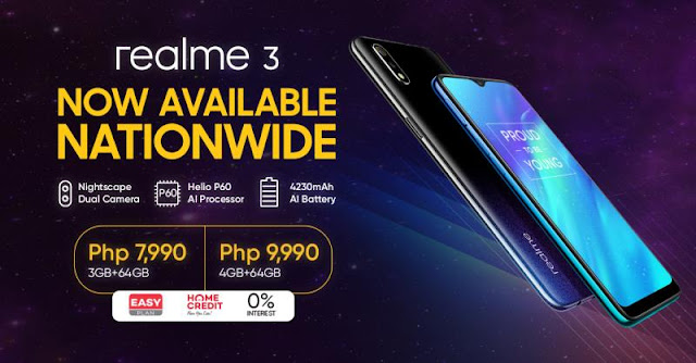 Realme 3 at 0% Interest with Home Credit Easy Plan