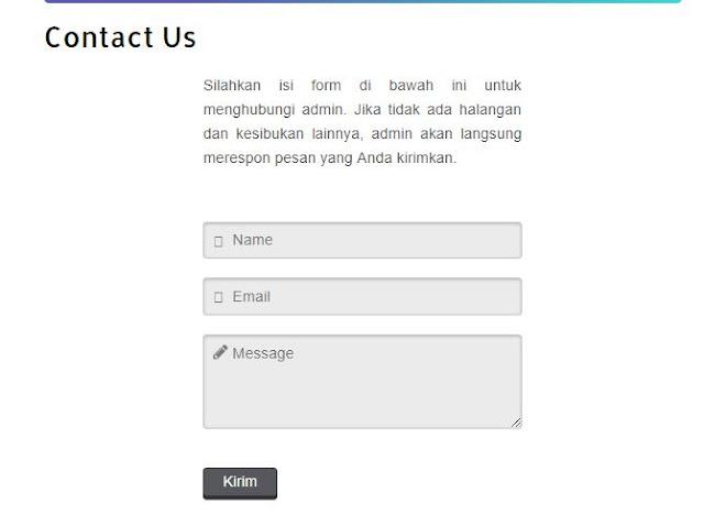 Kode Contact Us Untuk Halaman Blogger