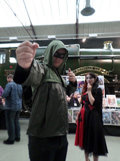 Green Arrow cosplay swindon comic con