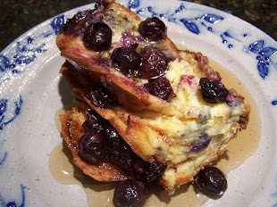 Oven Baked Blueberry French Toast
