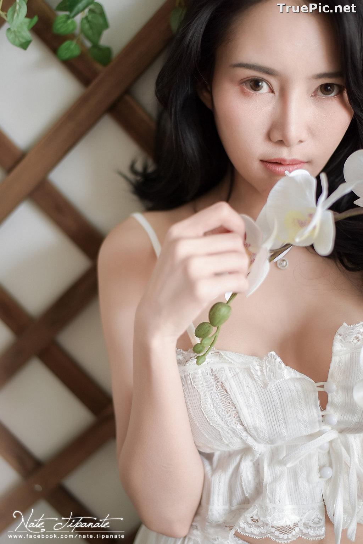 Image Thailand Model - Nattanicha Pw - Beautiful In White Sleepwear - TruePic.net - Picture-4