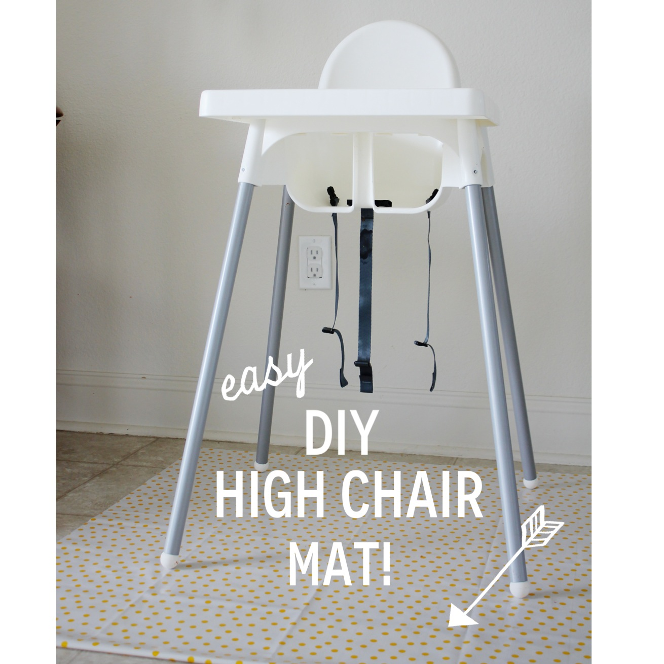 High Chair Floor Mat Everything Emily Easy Diy High Chair Mat