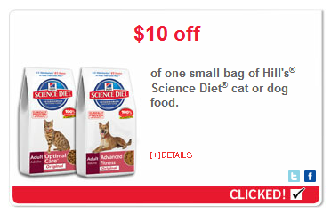 hills science diet new cat food coupons
