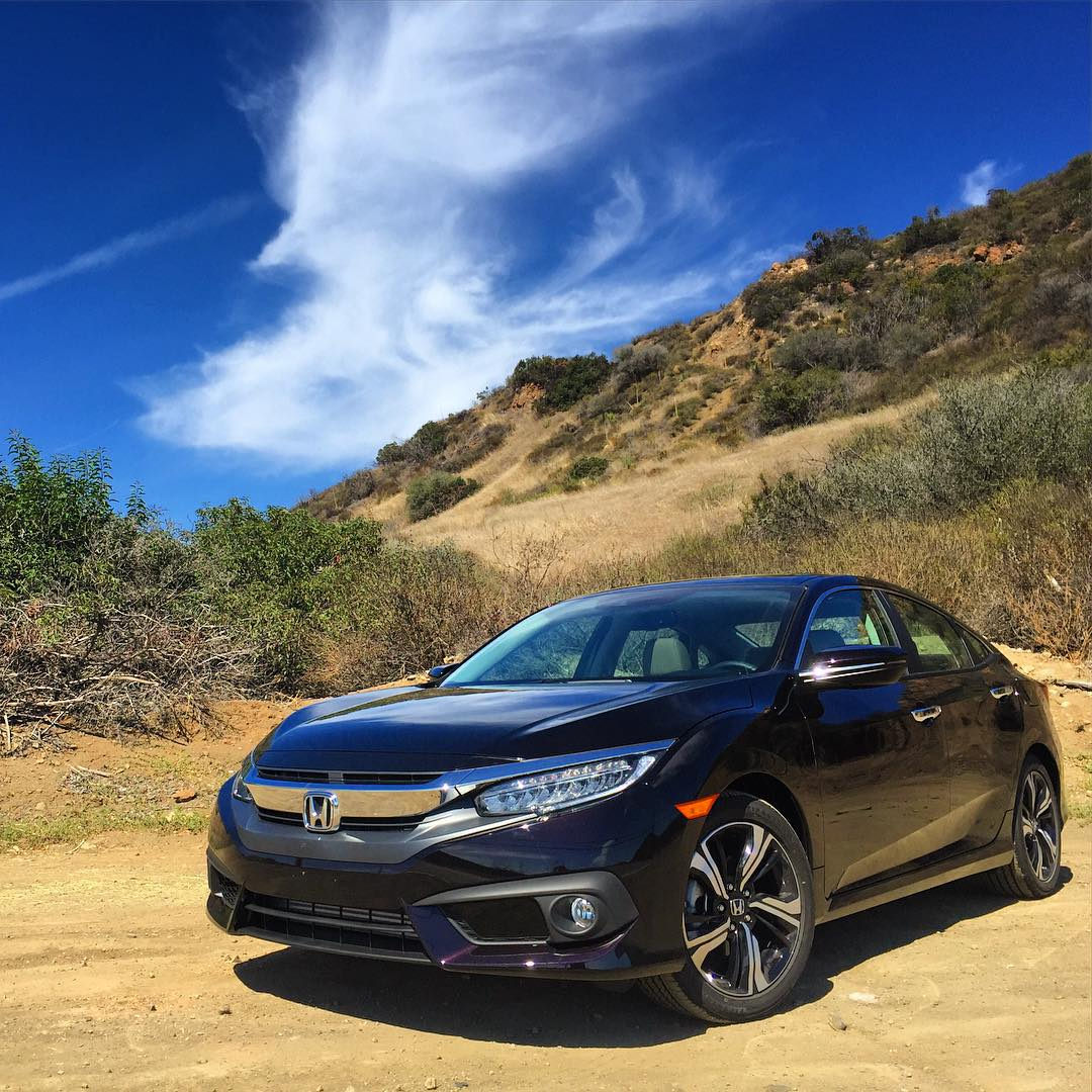 new 2016 honda civic shows its colors out in the open carscoops. Black Bedroom Furniture Sets. Home Design Ideas