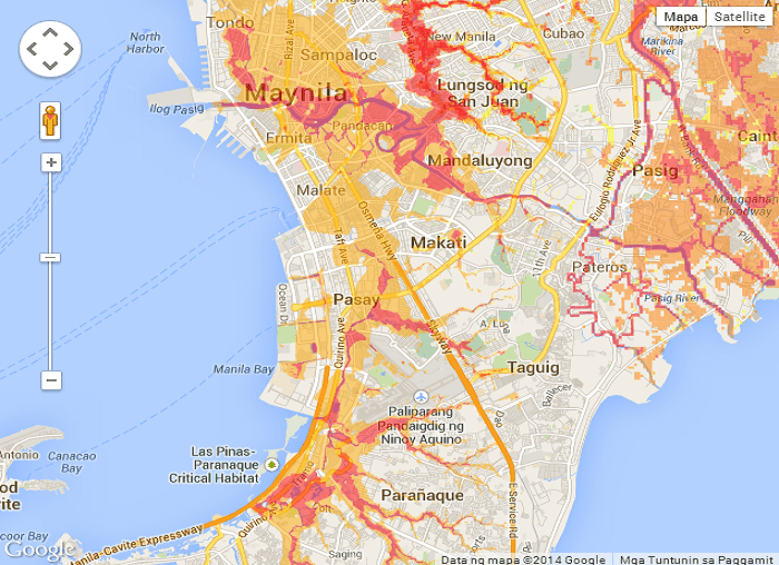 Flooded Areas in Metro Manila 1