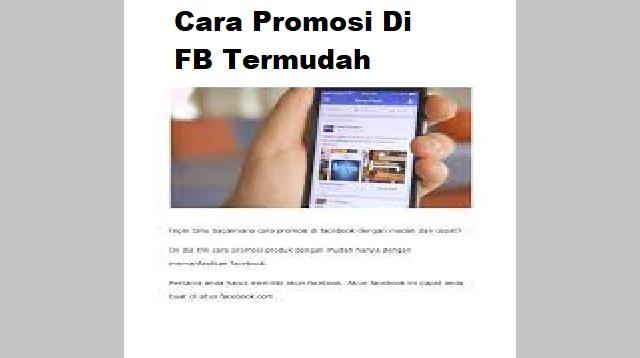 Cara Promosi di FB