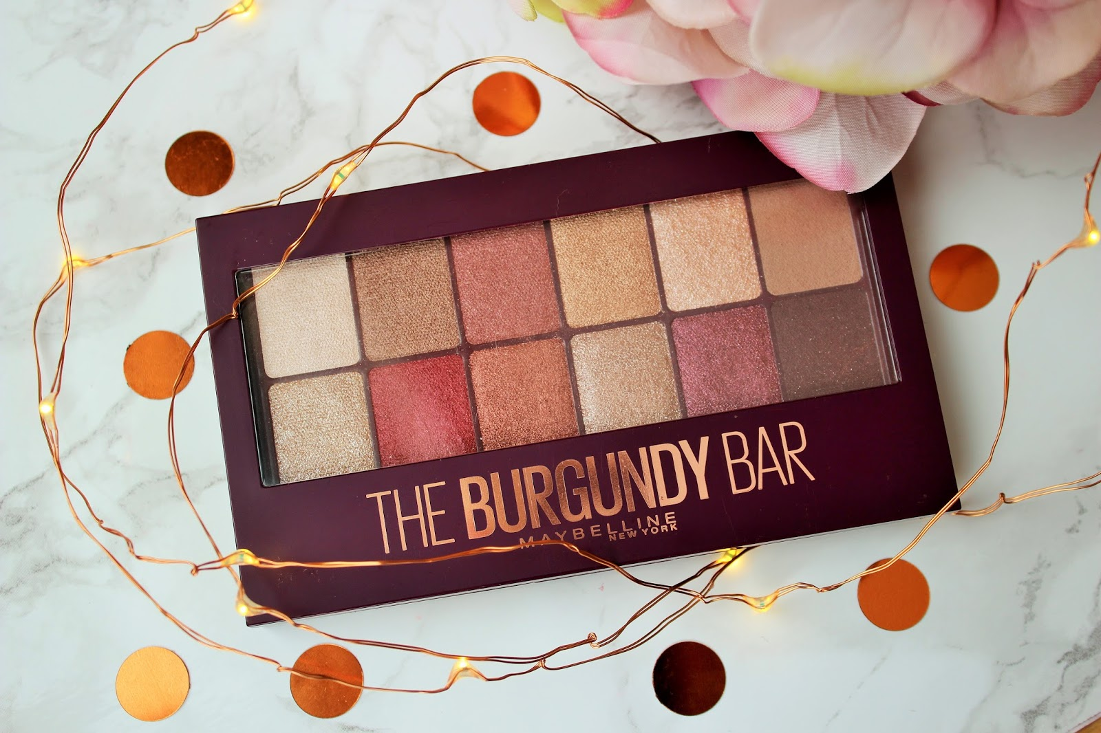 Maybelline The Burgundy Bar Eyeshadow Palette Review - 3