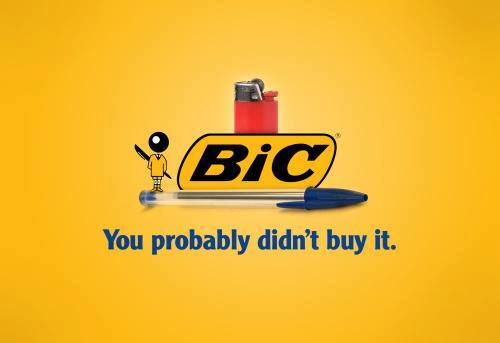 BIC - You probably didn't buy it.