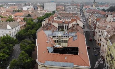 Vihar - Életveszélyessé vált a szegedi jogi kar épülete