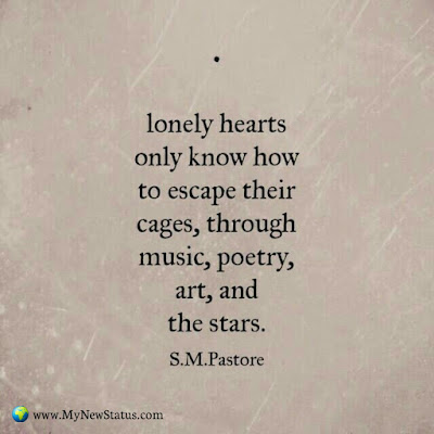 Lonely hearts only know how to escape their cage, through music, party, art and the starts #InspirationalQuotes #MotivationalQuotes #PositiveQuotes #Quotes #thoughts