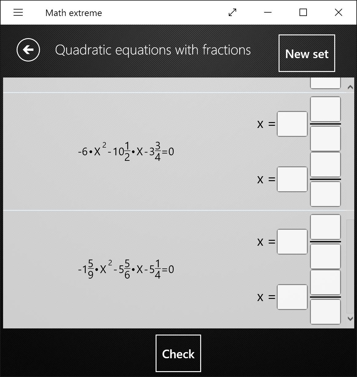 Math Extreme New Worksheets Quadratic Equations