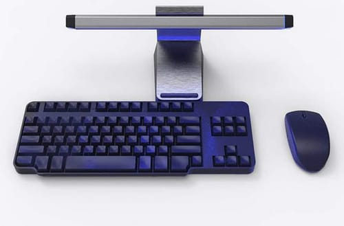 Targus has an antimicrobial lamp for the keyboard