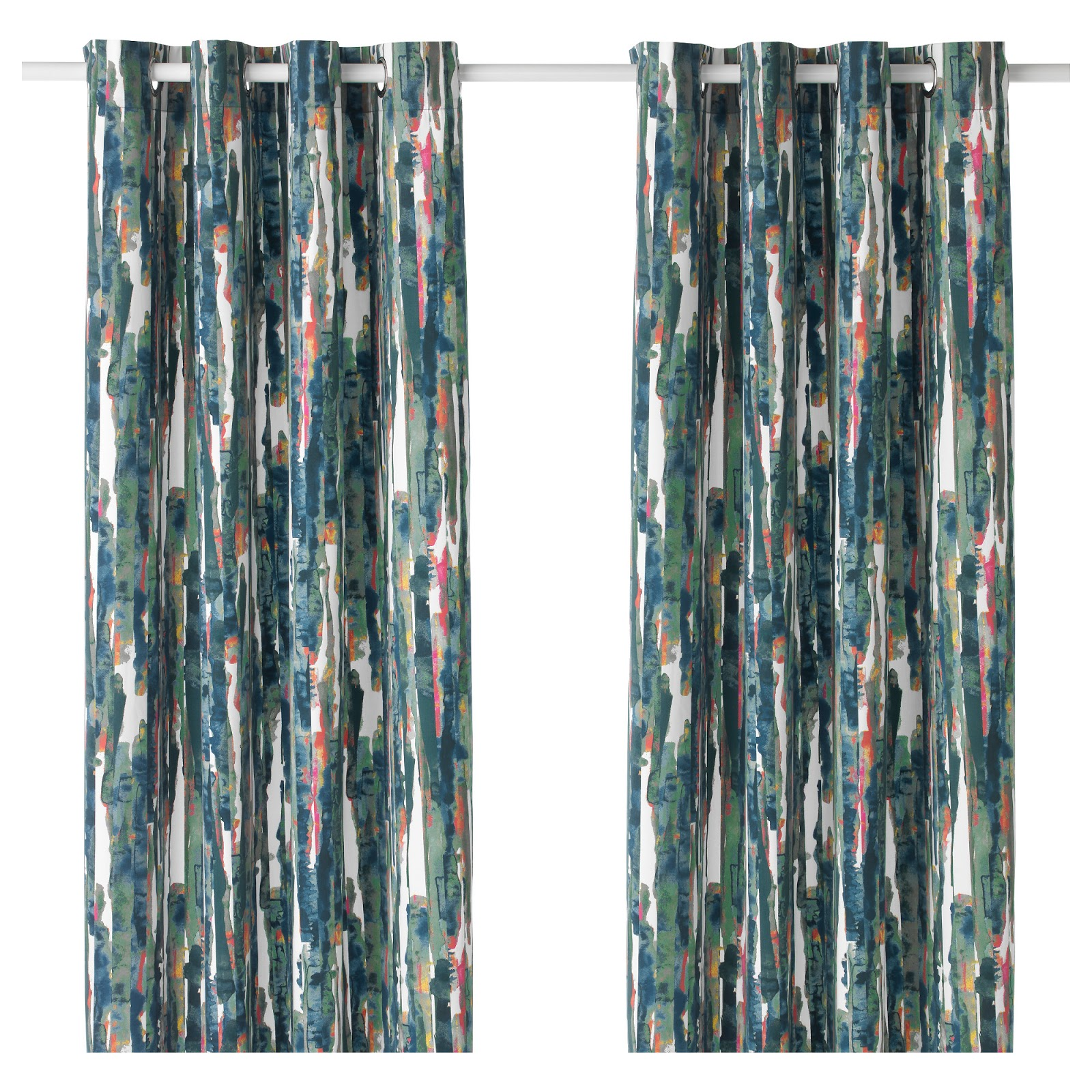 Paint Drop Cloth Curtains Splatter Your Own Painted Bamboo Beaded Curtain