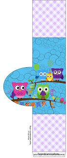 Colored Owls: Free Printables for your Quinceanera Party.
