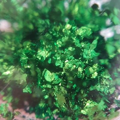 green foil flakes, nail art flakes, flakies, green