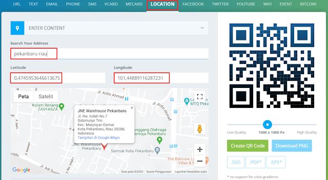 Cara Membuat QR Code Maps (Google maps)