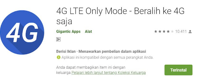 cara 4G only android 11
