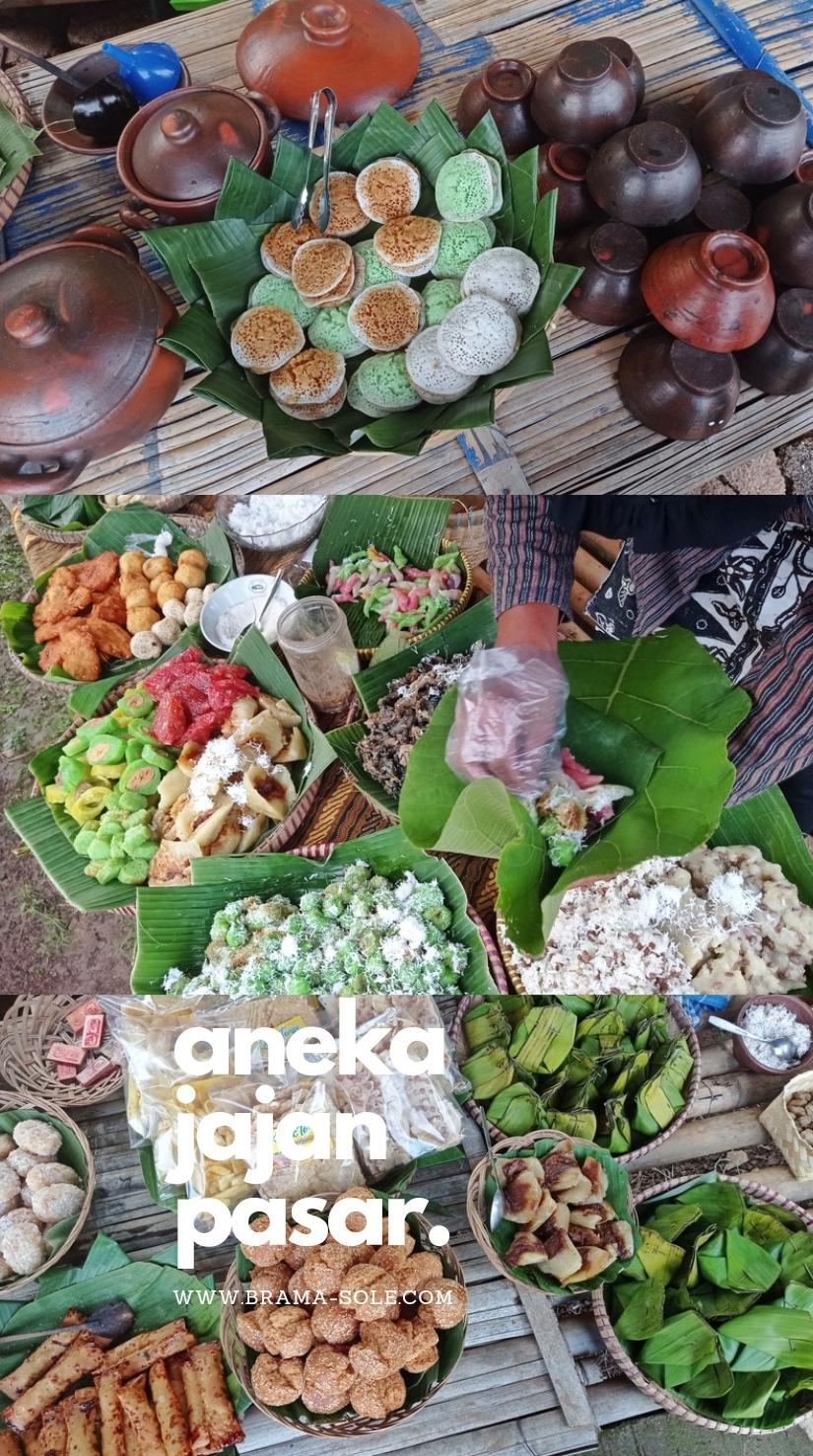 Aneka jajan pasar dan camilan tradisional pasar sawahan