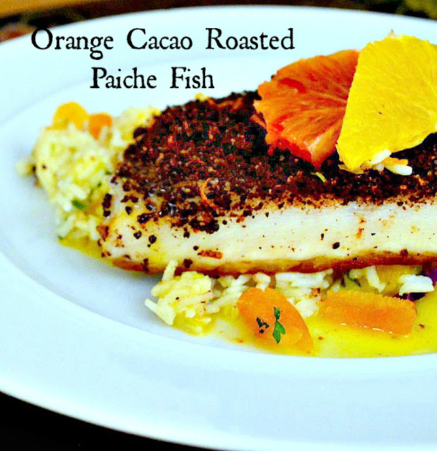 fish with spice rub and butter sauce