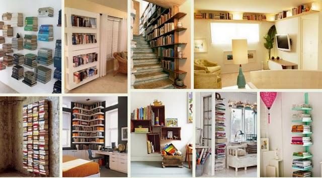 Ιδέες για Βιβλιοθήκες σε Μικρούς Χώρους