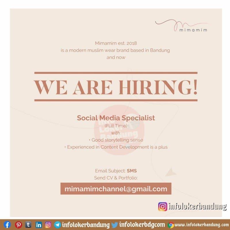 Lowongan Kerja Social Media Specialist Mimamim Hijab Bandung April 2021