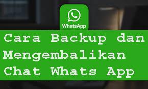 Cara Backup dan Mengembalikan Chat Whats App1
