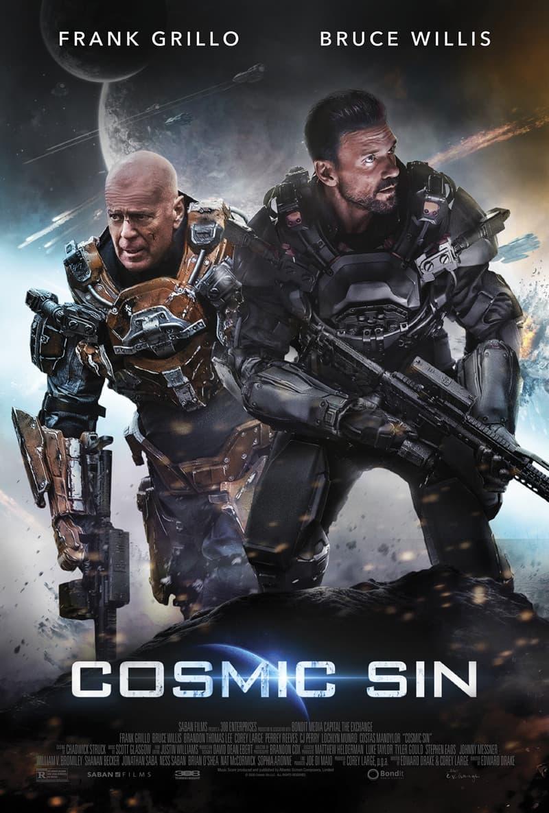 Вышел трейлер фантастического боевика Cosmic Sin с Брюсом Уиллисом и Фрэнком Грилло - Постер