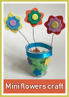 Mini Spring flowers craft