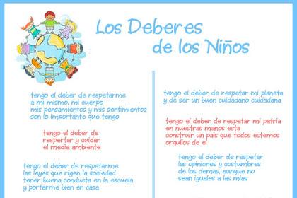 Dibujos Para Colorear De Los Deberes De Los Ninos