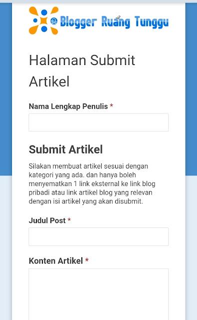 Submit Artikel