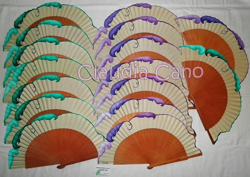 Abanicos para bodas y eventos claudia cano abanicos de - Abanicos pintados a mano originales ...