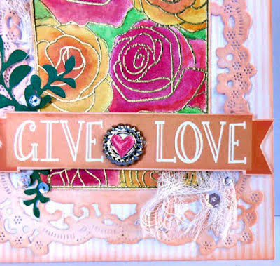 Give Love card featuring Windsong Paper Pack and PowderPuff Chalking Inks by Quick Quotes designed by June Swart