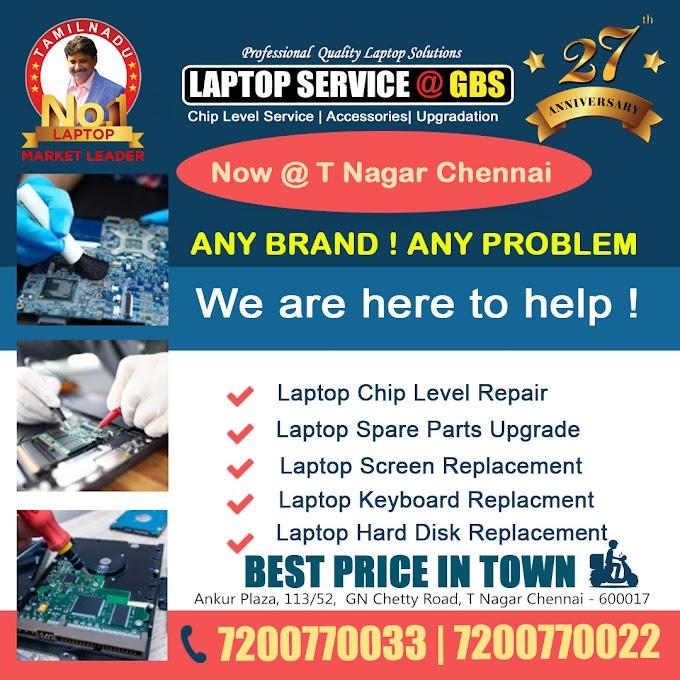 Laptop Repair Services in T Nagar Chennai
