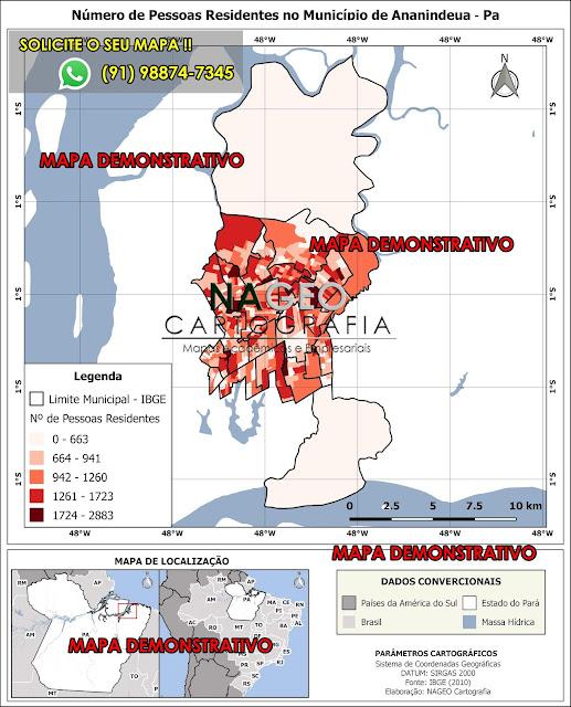 Mapa do Município de Ananindeua - Pa