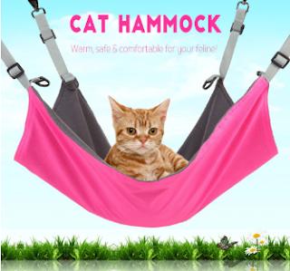 Cat Hammock Kitten Hanging Bed Pad Pet Comforter - Black