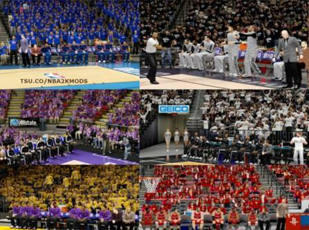 Playoffs Color Team Crowd [FOR 2K14] - NBA 2K Updates, Roster Update, Cyberface, Etc