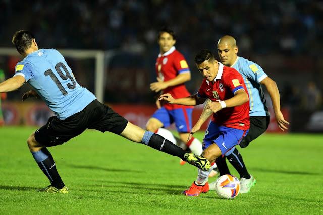 Uruguay y Chile en Clasificatorias a Rusia 2018, 17 de noviembre de 2015