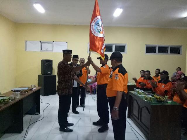 Bati Wanwil Koramil 0815/17 Dikukuhkan Pimpin Relawan Kanal Macan Putih Trawas
