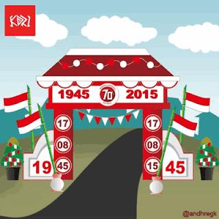5. Contoh Desain Gapura HUT Kemerdekaan RI ke 74 #5