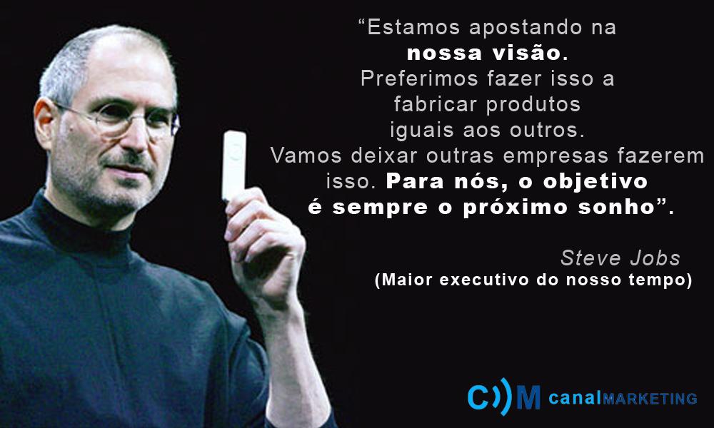 Frases Profissionais De Sucesso: Canal Marketing: Steve Jobs