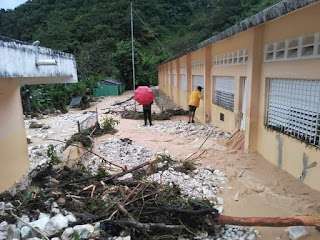 Una escuela,18 viviendas y 11 locales comerciales sepultados por crecida del rio Bretón en Los Arroyos,Polo