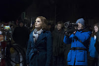 Molly's Game Jessica Chastain and Aaron Sorking Set Photo 2