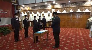 Tujuh Orang Anggota KPID Provinsi Jambi Dilantik Sekda Provinsi Jambi.