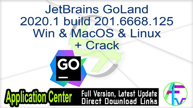 JetBrains GoLand 2020.1 build 201.6668.125 Win & MacOS & Linux + Crack