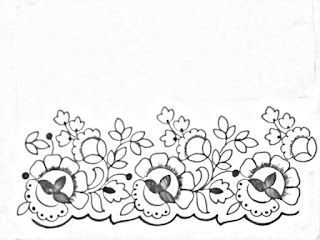Hand embroidery saree border design drawing