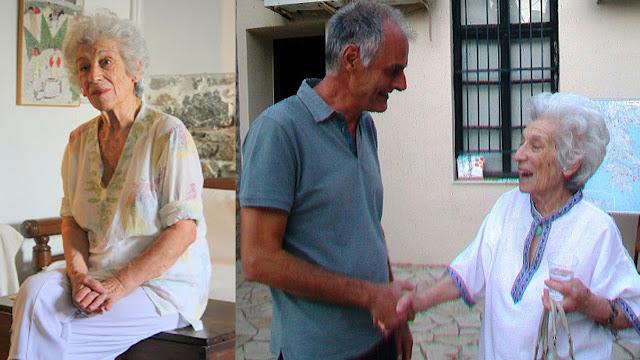 Ο Γιάννης Γκιόλας αποχαιρετά την Ανθούλα Λαζαρίδου - Δουρούκου