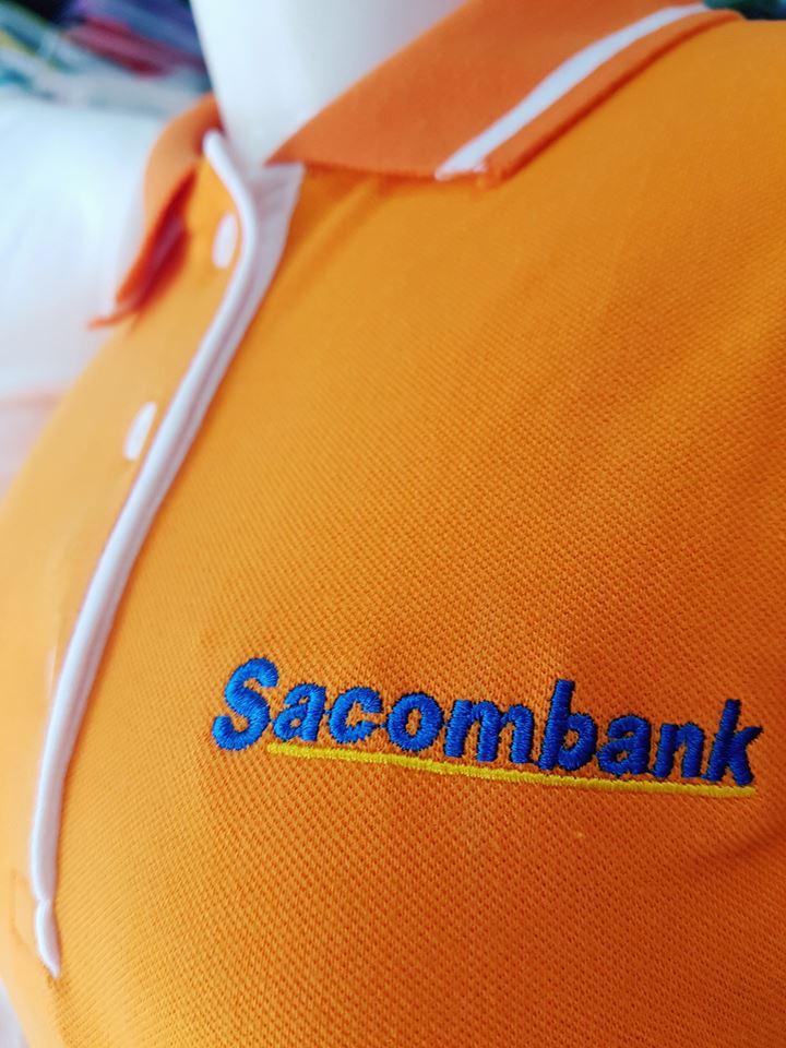 Xưởng may áo thun đồng phục cho ngân hàng sacombank