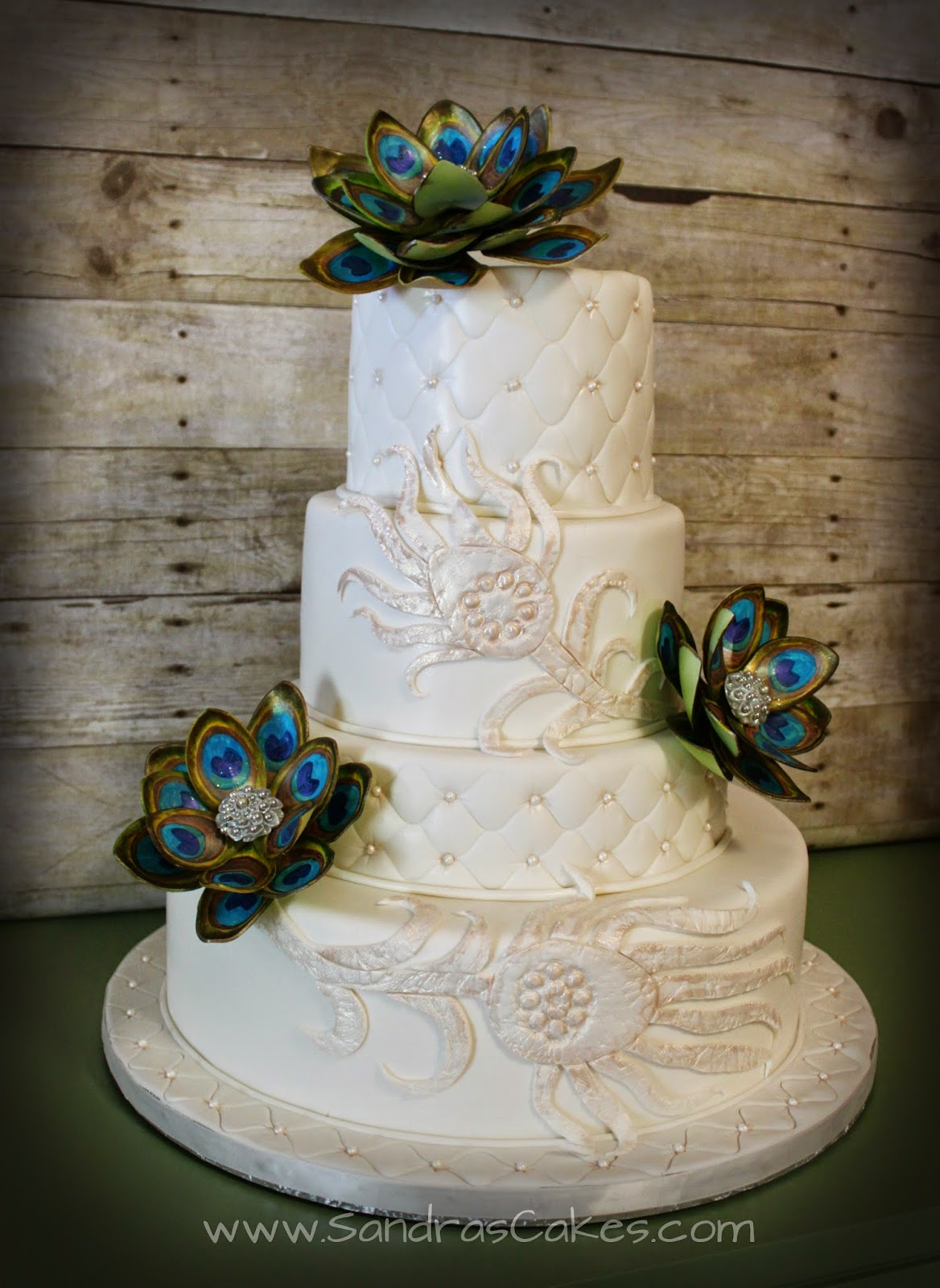 inspired wedding cakes peacock inspired wedding cake 16461