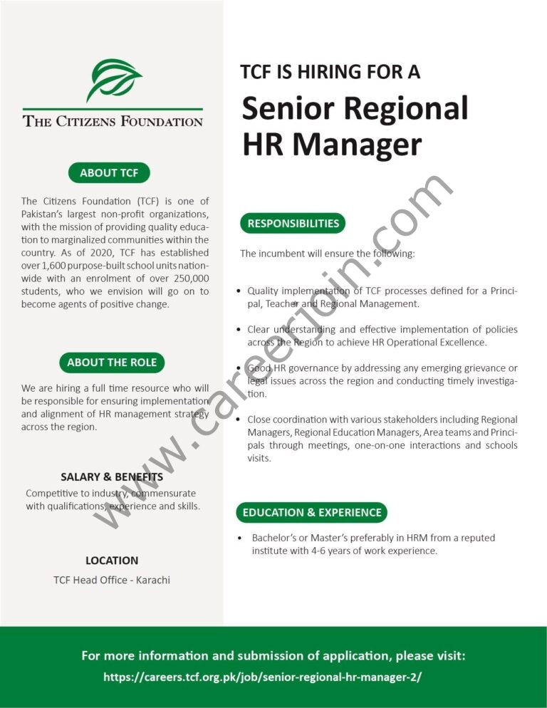 careers.tcf.org.pk Jobs 2021 - The Citizens Foundation TCF Jobs 2021 in Pakistan