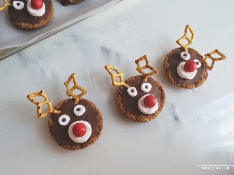 rudolph the reindeer caramel tarts